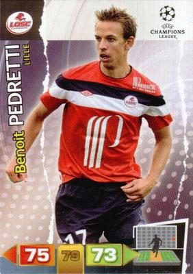 2011-12 - Panini Champions League Cards - N° 126 - Benoît PEDRETTI (Lille)