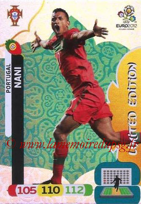 Panini Euro 2012 Cards Adrenalyn XL - N° LE39 - NANI (Portugal) (Limited Edition)