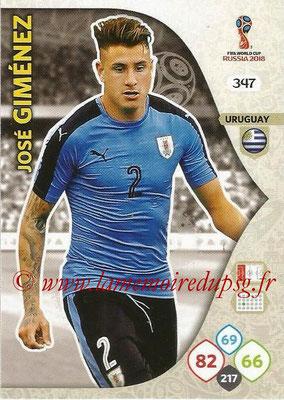 2018 - Panini FIFA World Cup Russia Adrenalyn XL - N° 347 - José GIMENEZ (Uruguay)
