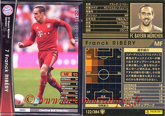 2012-13 - WCCF - N° 122 - Franck RIBERY (FC Bayern Munich)