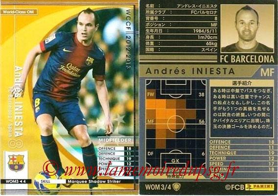 2012-13 - WCCF - N° WOM3 - Andrés INIESTA (FC Barcelone) (World Class OM)