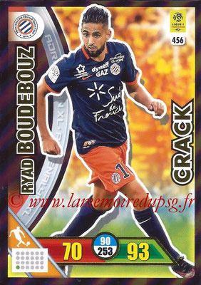 2017-18 - Panini Adrenalyn XL Ligue 1 - N° 456 - Ryad BOUDEBOUZ (Montpellier) (Crack)