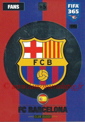 2016-17 - Panini Adrenalyn XL FIFA 365 - N° 140 - Logo FC Barcelone (Club Badge)