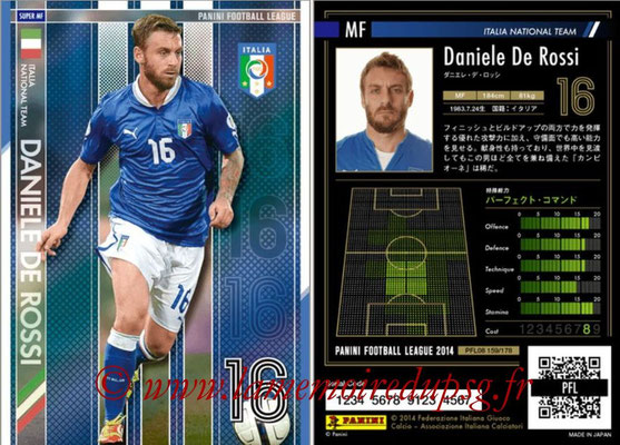 Panini Football League 2014 - PFL08 - N° 159 - Daniele DE ROSSI (Italie) (Super MF)
