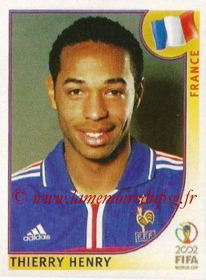 2002 - Panini FIFA World Cup Stickers - N° 041 - Thierry HENRY (France)