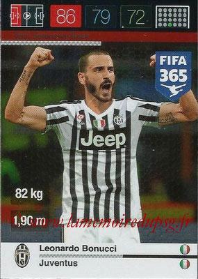 2015-16 - Panini Adrenalyn XL FIFA 365 - N° 253 - Leonardo BONUCCI (Juventus FC) (Defensive Rock)