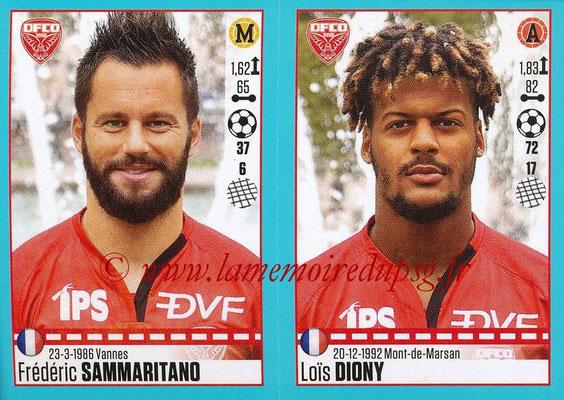 2016-17 - Panini Ligue 1 Stickers - N° 208 + 209 - Frédéric SAMMARITANO + Lois DIONY (Dijon)