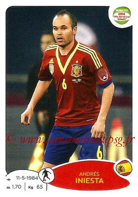 2014 - Panini Road to FIFA World Cup Brazil Stickers - N° 137 - Andrés INIESTA (Espagne)