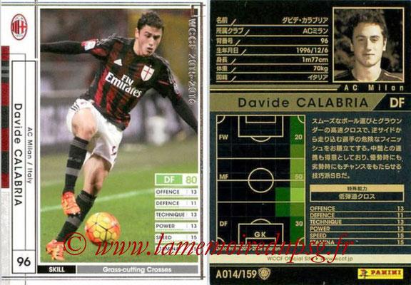 2015-16 - Panini WCCF - N° A014 - David CALABRIA (Milan AC)