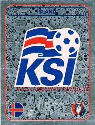 Panini Euro 2016 Stickers - N° 572 - Logo Islande