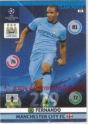 2014-15 - Adrenalyn XL champions League N° 174 - FERNANDO (Manchester City FC)