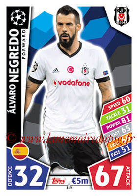 2017-18 - Topps UEFA Champions League Match Attax - N° 339 - Alvaro NEGREDO (Besiktas JK)