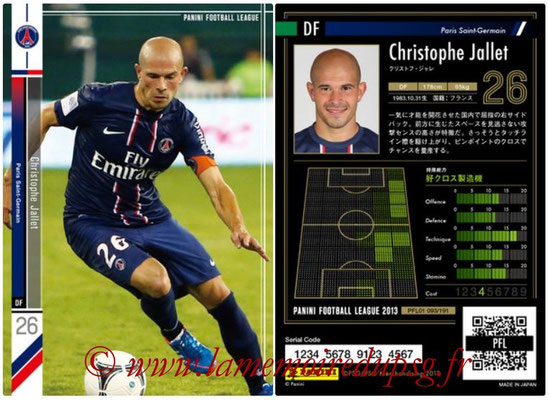 Panini Football League 2013 - PFL01 - N° 093 - Christophe Jallet ( Paris Saint-Germain )