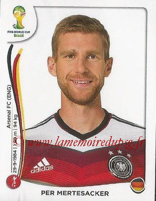 2014 - Panini FIFA World Cup Brazil Stickers - N° 492 - Per MERTESACKER (Allemagne)