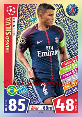 2017-18 - Topps UEFA Champions League Match Attax - N° 256 - Thiago SILVA (Paris Saint-Germain) (Defensive Dynamo)