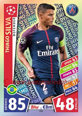 2017-18 - Topps UEFA Champions League Match Attax - N° 256 - Thiago SILVA (Paris Saint-Germain) (Defensive Dynamo)