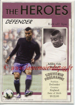 2013 - Futera World Football Unique - N° HER08 - Ashley COLE (Angleterre) (Defender) (The Heroes)