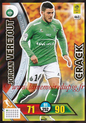 2017-18 - Panini Adrenalyn XL Ligue 1 - N° 463 - Jordan VERETOUT (Saint-Etienne) (Crack)