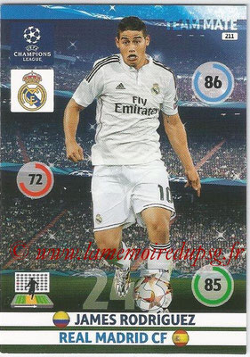 2014-15 - Adrenalyn XL champions League N° 211 - James RODRIGUEZ (Real Madrid CF)
