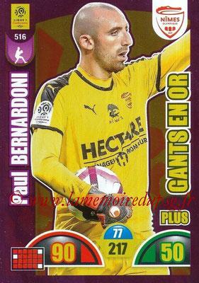2018-19 - Panini Adrenalyn XL Ligue 1 - N° 516 - Paul BERNARDONI (Nîmes) (Gants en Or)