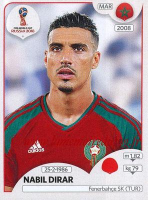 2018 - Panini FIFA World Cup Russia Stickers - N° 156 - Nabil DIRAR (Maroc)
