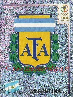 2002 - Panini FIFA World Cup Stickers - N° 386 - Logo Argentine