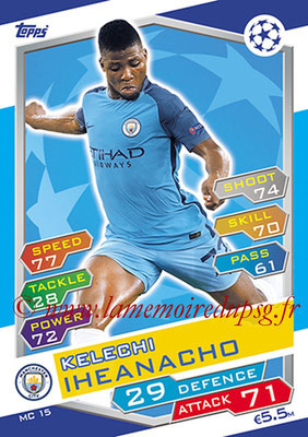2016-17 - Topps UEFA Champions League Match Attax - N° MC15 - Kelechi IHEANOCHO (Manchester City FC)