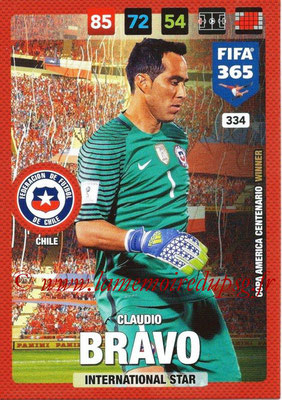 2016-17 - Panini Adrenalyn XL FIFA 365 - N° 334 - Claudio BRAVO (Chili) (International Star)