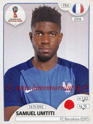 2018 - Panini FIFA World Cup Russia Stickers - N° 198 - Samuel UMTITI (France)