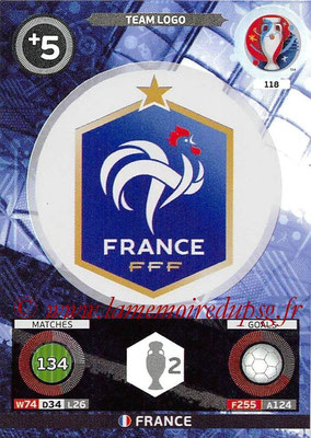 Panini Euro 2016 Cards - N° 118 - Logo France (Team Logo)