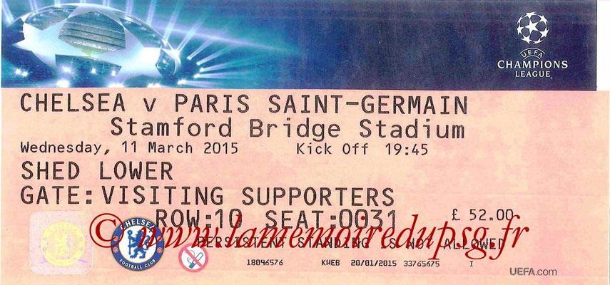 Tickets  Chelsea-PSG  2014-15