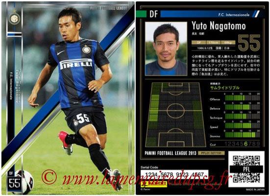 Panini Football League 2013 - PFL01 - N° 027 - Yuto Nagatomo ( F.C. Internazionale )