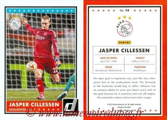 2015 - Panini Donruss Soccer - N° 014 - Jasper CILLESSEN (AFC Ajax)
