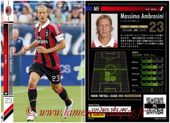 Panini Football League 2013 - PFL01 - N° 008 - Massimo Ambrosini ( A.C. Milan )