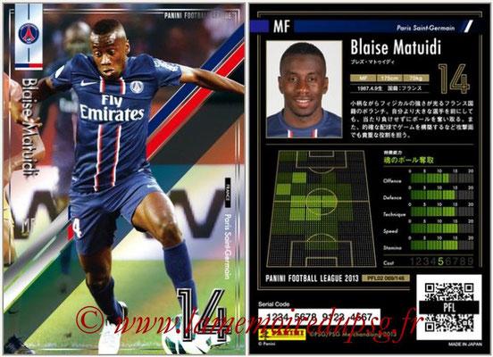 Panini Football League 2013 - PFL02 - N° 069 - Blaise Matuidi ( Paris Saint-Germain )