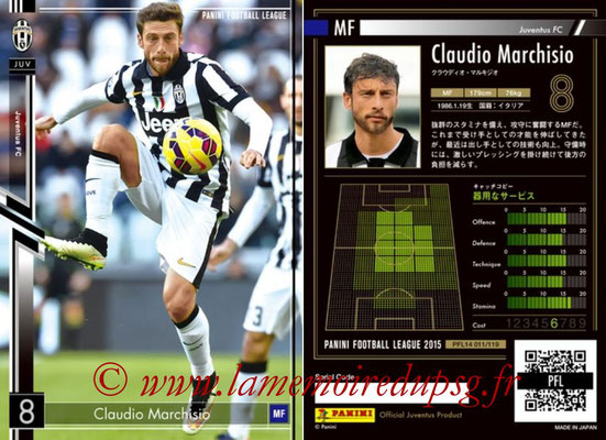 Panini Football League 2015 - PFL14 - N° 011 - Claudio MARCHISIO (Juventus FC)