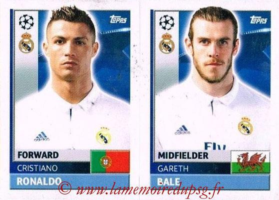 2016-17 - Topps UEFA Champions League Stickers - N° REA 16-17 - Gareth BALE + Cristiano RONALDO (Real Madrid CF)