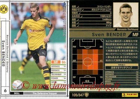 2015-16 - Panini WCCF - N° 105 - Sven BENDER (Borussia Dortmund)