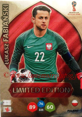 2018 - Panini FIFA World Cup Russia Adrenalyn XL - N° LE-LF - Lukasz FABIANSKI (Pologne) (Limited Edition)
