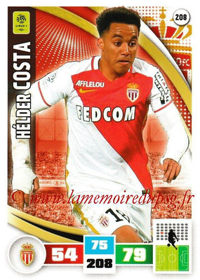 2016-17 - Panini Adrenalyn XL Ligue 1 - N° 208 - Hélder COSTA (Monaco)