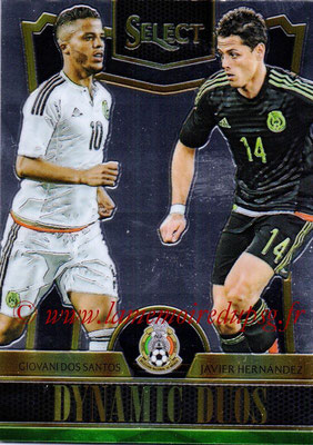 2015 - Panini Select Soccer - N° DD11 - Giovani DOS SANTOS + Javier HERNANDEZ (Mexique) (Dynamic Duos)