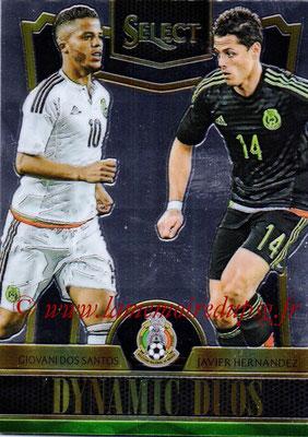 2015 - Panini Select Soccer - N° DD11 - Giovani DOS SANTOS + Javier HERNANDEZ (Mexique) (Dynamic Duos)