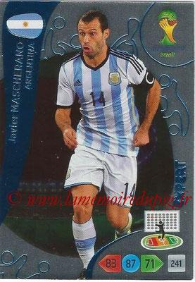 2014 - Panini FIFA World Cup Brazil Adrenalyn XL - N° 379 - Javier MASCHERANO (Argentine) (Expert)