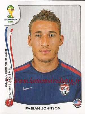 2014 - Panini FIFA World Cup Brazil Stickers - N° 552 - Fabian JOHNSON (Etats-Unis)
