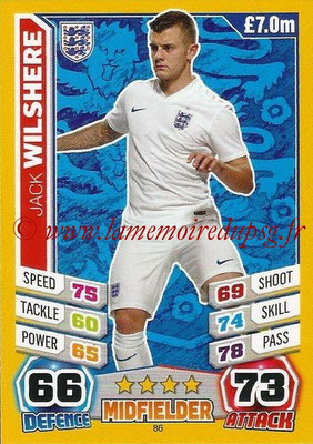 Topps Match Attax England 2014 - N° 086 - Jack WILSHERE (Angleterre)