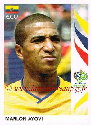 2006 - Panini FIFA World Cup Germany Stickers - N° 078 - Marlon AYOVI (Equateur)