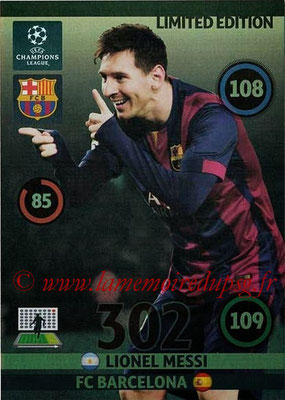 2014-15 - Adrenalyn XL champions League Update edition N° LEU-LM - Lionel MESSI (FC Barcelone) (Limited Edition)