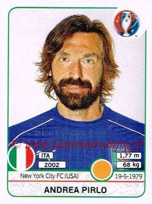 Panini Euro 2016 Stickers - N° 505 - Andrea PIRLO (Italie)