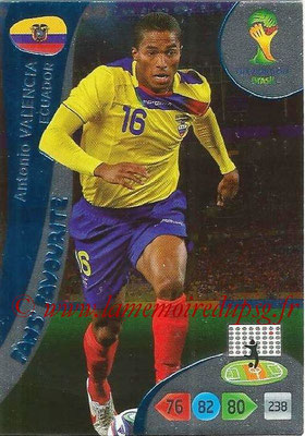 2014 - Panini FIFA World Cup Brazil Adrenalyn XL - N° 335 - Antonio VALENCIA (Equateur) (Fan's favorite)