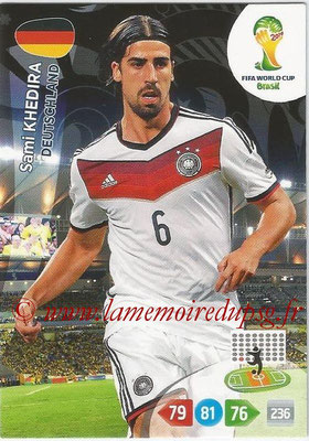 2014 - Panini FIFA World Cup Brazil Adrenalyn XL - N° 110 - Sami KHEDIRA (Allemagne)